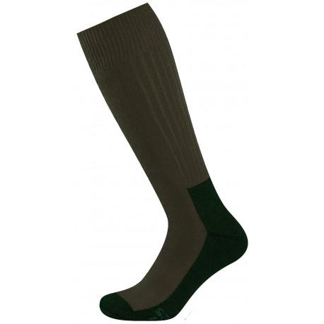 khaki - Antibakteriální Extrémní zátěž TERMO | Ponožky KNITVA Fish and Hunt - Teplé vlněné myslivecké a rybářské termo ponožky santibakteriální úpravou. Ponožky jsou speciálně vyvinuté pro velkou fyzickou zátěž acelodenní nošení vtěžké vysoké obuvi, goretexových botách ivrybářských holinách.