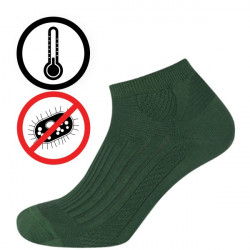 Chladivé antibakteriální zónové kotníčkové | Ponožky KNITVA Fish and Hunt