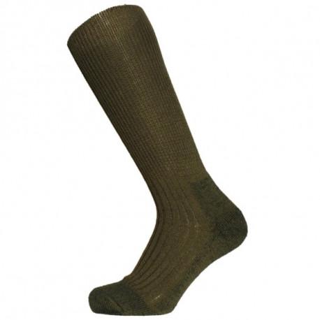 khaki - Klasik TERMO | Ponožky KNITVA Fish and Hunt - Teplévlněnétermo ponožky s froté zónami v chodidle, které způsobují vysoký termoizolační efekt. Vyvinuté z originálních vzorů pro Armádu ČR. Ponožky jsou ideální pro celoroční nošení. Skvělé pro ponožky do přírody, na kempování a pro outdoorové sporty. Doporučené do vysoké obuvi, včetně rybářských holin.